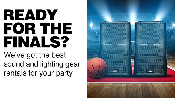 Ready for the finals? We've got the best sound and lighting gear rentals for your party.