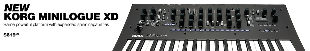 New Korg Minilogue XD. Same powerful platform with expanded sonic capabilities. $619.99.