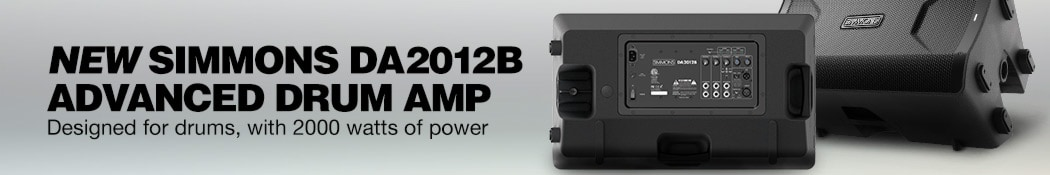 New Simmons DA2012B Advanced Drum Amp. Designed for drums, with 2000 watts of power.
