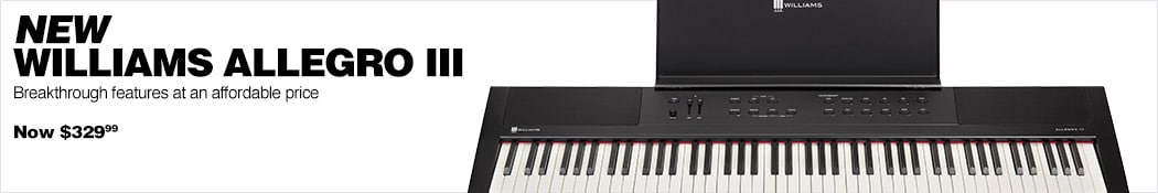 New Williams Allegro III. Breakthrough features at an affordable price. Now $329.99