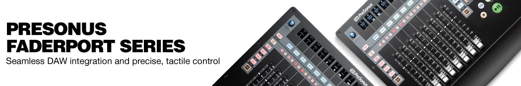 PreSonus Faderport Series. Seamless DAW integration and precise, tactile control.