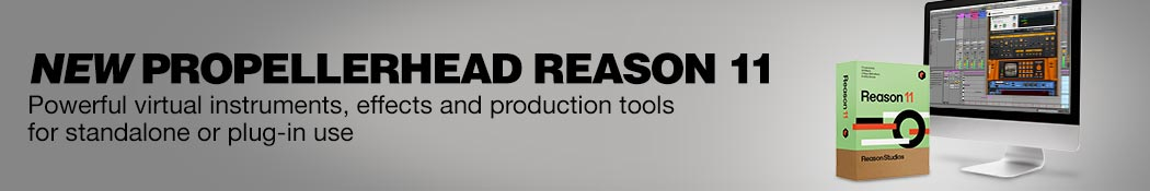 New Propellerhead Reason 11. Powerful virtual instruments, effects and production tools for standalone or plug-in use.