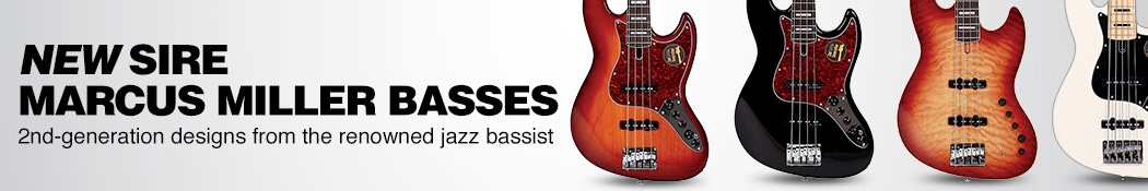 New Sire Marcus Miller Basses. 2nd-generation designs from the renowned jazz bassist.