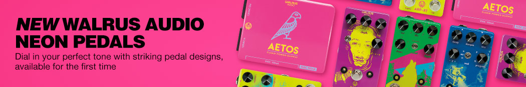New Walrus Audio Neon Pedals. Dial in your perfect tone with striking pedal designs, available for the first time.