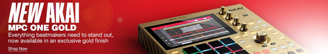 New Akai MPC One Gold. Everything beatmakers need to stand out, now available in an exclusive gold finish. Shop now.