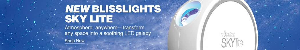 New Blisslights Sky Lite. Atmosphere, anywhere. Transform any space into a soothing LED galaxy. Shop now.