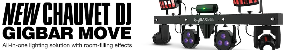 New Chauvet DJ Gigbar Move. All-in-one lighting solution with room-filling effects.