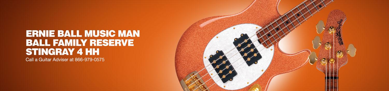 Ernie Ball Music Man Ball Family Reserve Stingray 4 HH. Call a Guitar Adviser at 866-979-0575.
