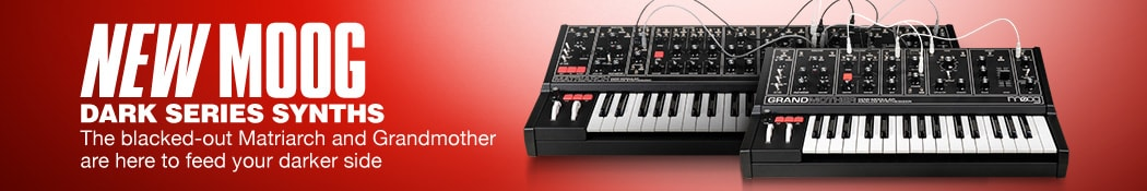 New Moog Dark Series Synths. The blacked-out Matriarch and Grandmother are here to feed your darker side.