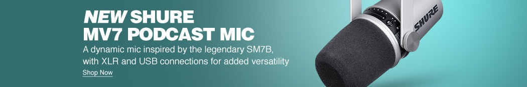 New Shure MV7 Podcast Mic. A dynamic mic inspired by the legendary SM7B, with XLR and USB connections for added versatility. Shop now.