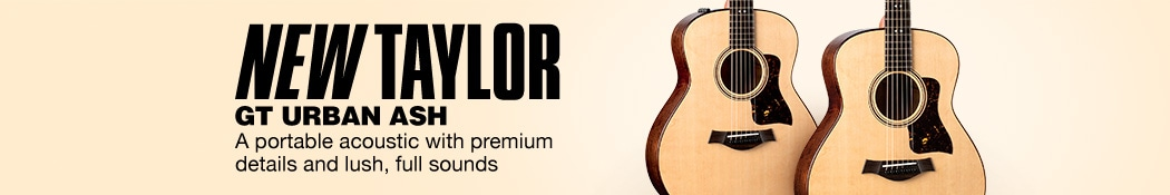 New Taylor GT Urban Ash. A portable acoustic with premium details and lush, full sounds.