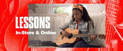 Lessons. In-store and online.