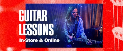 Guitar lessons. In-store and online.