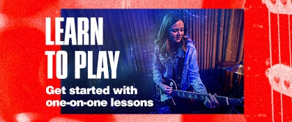 Learn to play. Get started with one-on-one lessons.
