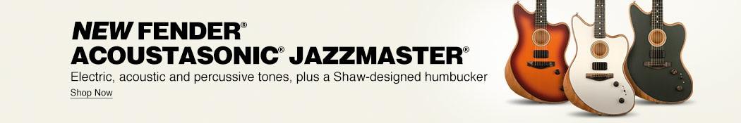 New Fender Acoustasonic Jazzmaster. Electric, acoustic and percussive tones, plus a Shaw-designed humbucker. Shop now.