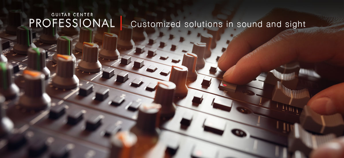 Guitar Center Professional. Customized excellence in sound and sight. Bar and Restaurant.